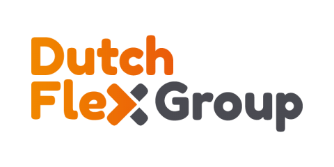 Het logo van Dutch Flex Group